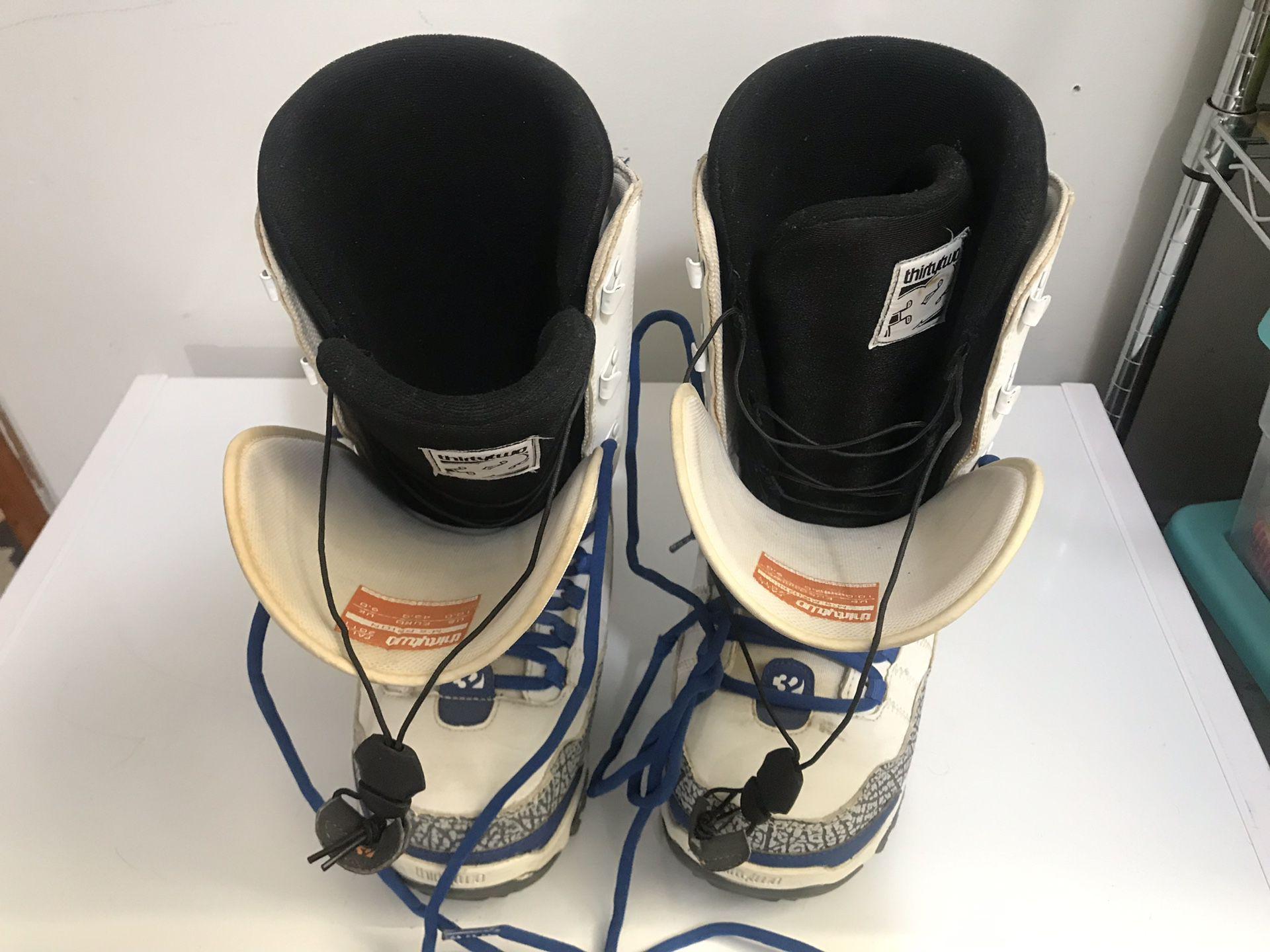 ThirtyTwo True Blue 3 Jordan Snowboard Boots Sz 10 Mens