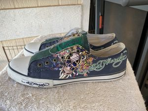 Photo PreOwned Ed Hardy Men's 11 Laceless Low Top Green/Blue