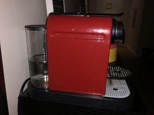 Nespresso Automatic Single-Serve Espresso Maker and Milk Frother, red for Sale in Portland, OR