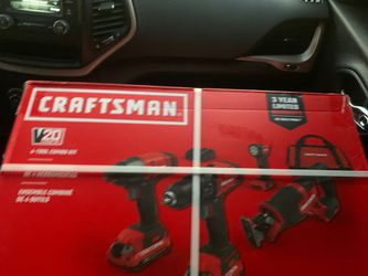 Craftsman v20 4 tool combo kit I have the gift reciept that has the full amount u can exchange at Home Depot Thumbnail