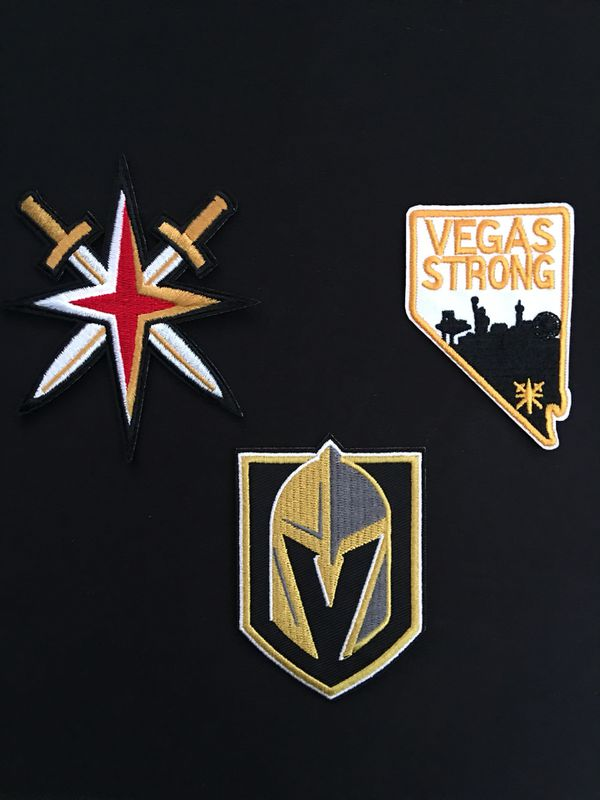 factory authentic 2768d 681cf Golden Knights Jersey Patches Vegas Strong for Sale in Las Vegas, NV -  OfferUp