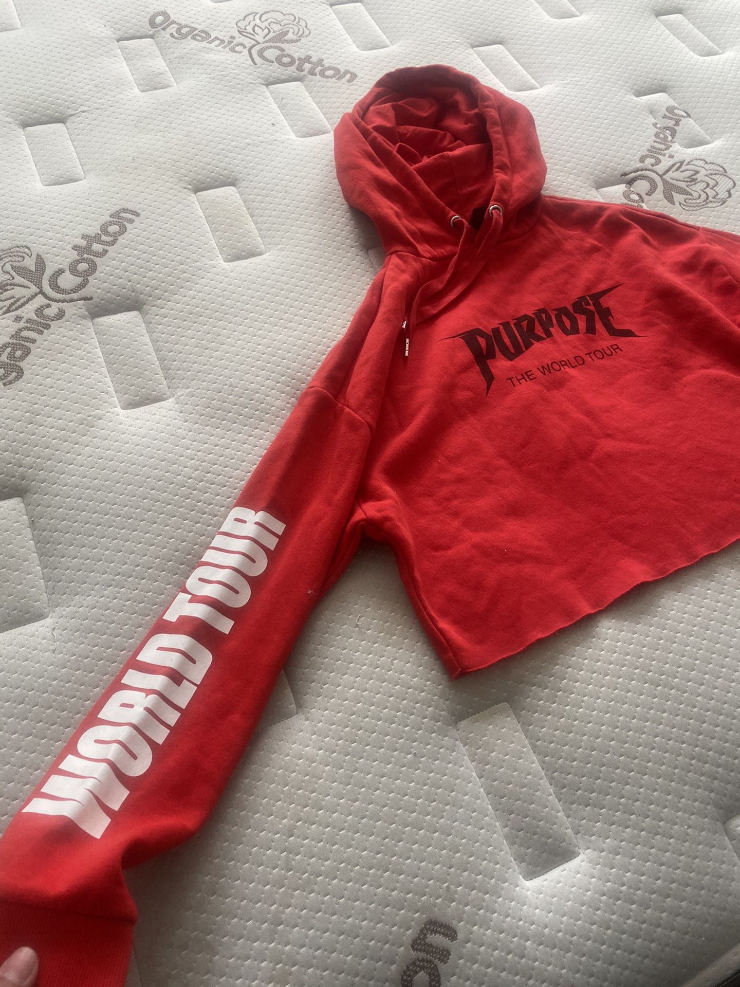 Small Crop Top Justin Bieber Sweater.