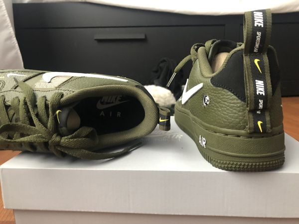 detailed look 33921 a74c2 Air force 1 low utility olive canvas