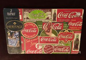2 Coca Cola Hardboard Table Mats for Sale in San Jacinto, CA