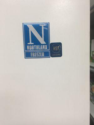 "Photo Northland corporation commercial freezer. 75""H x 35""W x 32""D."