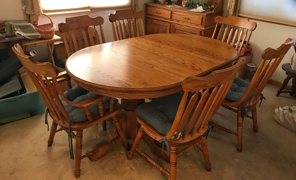 Golden Oak Dining Room Set