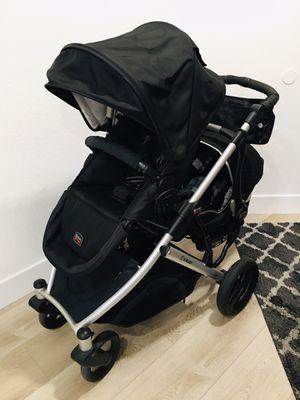 Photo Black/Silver Britax B-Ready B Ready Double Stroller with Britax B-Safe B Safe Infant Car Seat & Car Base, Seat Adapters, Safety Bar, Utility Hook, Cu