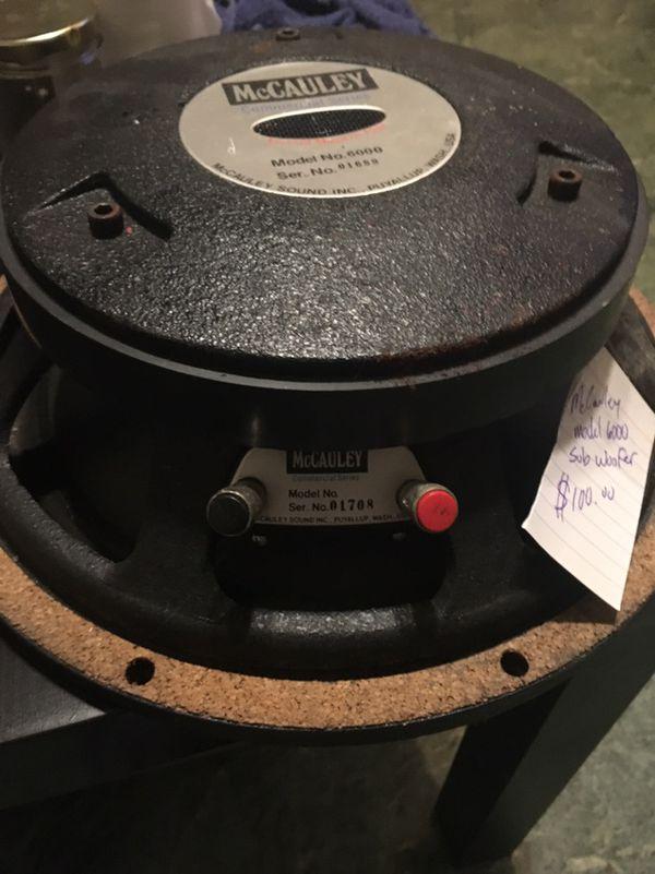 McCauley model 6000 sub woofer for Sale in Seattle, WA - OfferUp