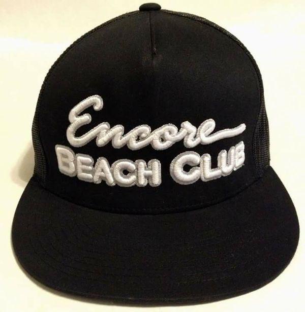 New Encore Beach Club Wynn Las Vegas Black Snapback Cap Hat For