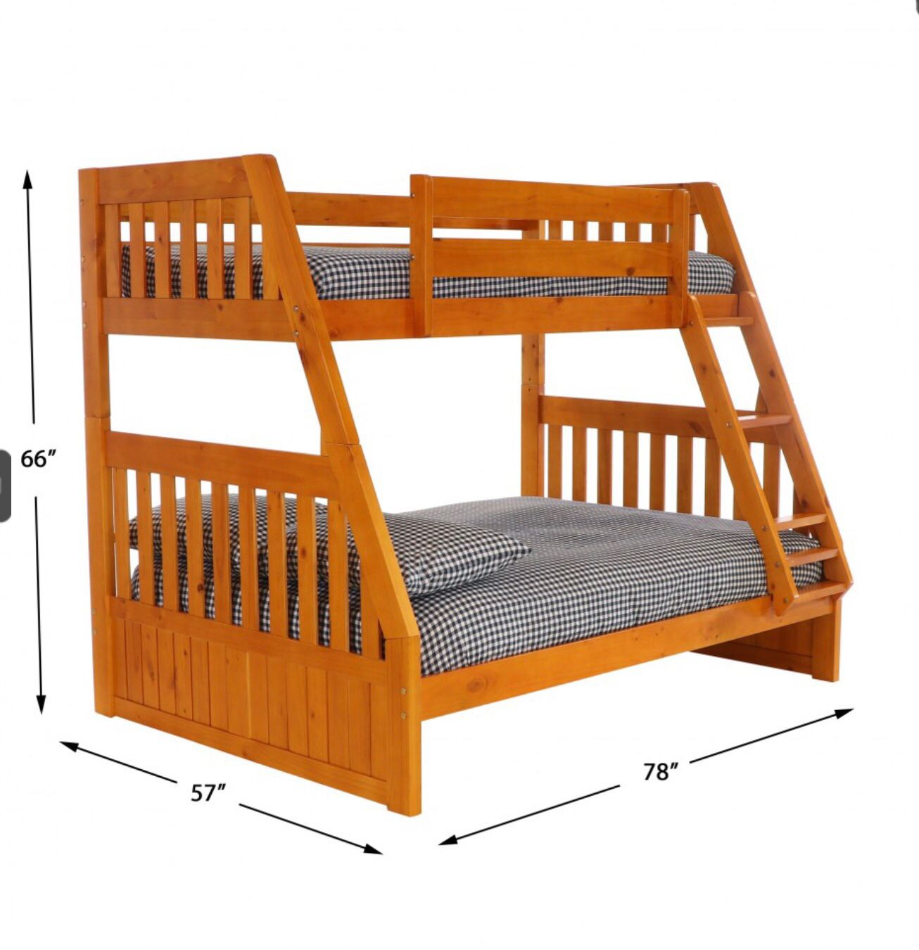 BUNL BED FULL OVER TWIN NEW WITH MATTRESS INCLUDED NEW