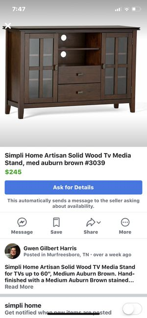 Simpli Home Artisan Solid Wood Tv Media Stand For Tvs Up To 60