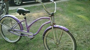 26in Cruiser pink and purple female bike customize handlebars and shocks for Sale in Manassas, VA