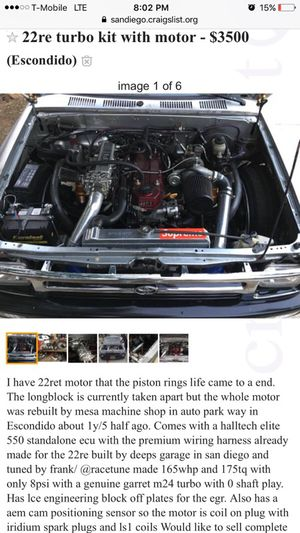 22re turbo kit for Sale in Escondido, CA - OfferUp