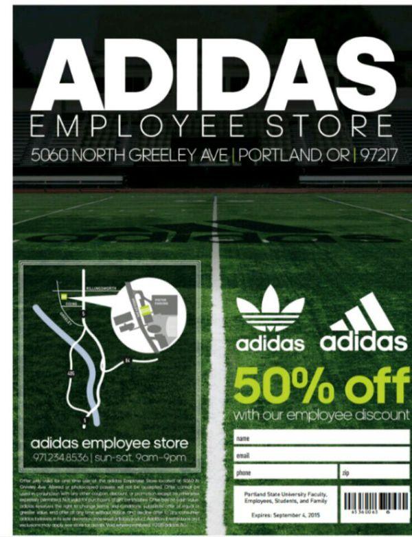 Adidas impiegato negozio passa per la vendita a portland, o offerup