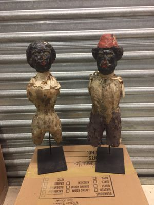 Pair hand carved figures for Sale in Houston, TX