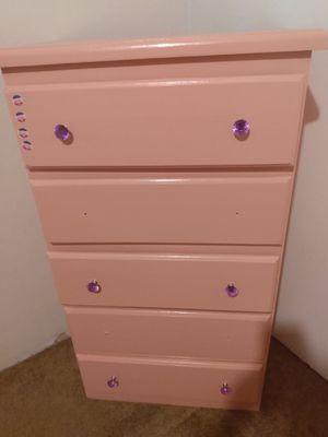 Photo Pink 5 drawer dresser