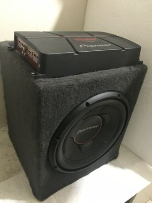 1200 watt Pioneer 12 in box and 1200Watt Pioneer amp for Sale in Washington, DC