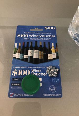 $100 wine voucher for $10 for Sale in Centreville, VA