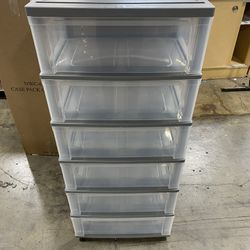 IRIS USA 110311 Wide Storage Drawer Cart, 6, Gray - NEW Thumbnail