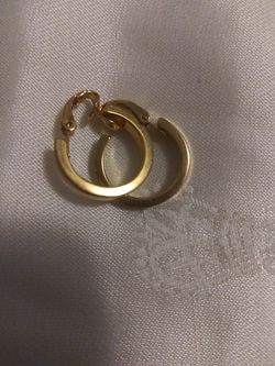 Accents Hallmark Gold Tone Hoops Clip Earrings Thumbnail