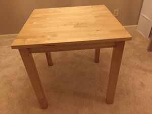 IKEA HARDWOOD square DINNING TABLE90% new for Sale in Herndon, VA