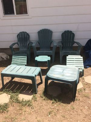 Complete Patio Chair Table Leg Rest Set For In Colorado Springs Co