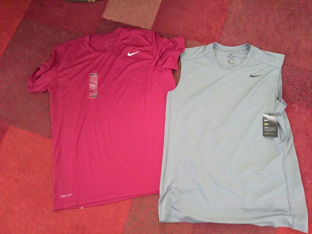 2 NWT Nike Dri-Fit Shirts. Size Large $40