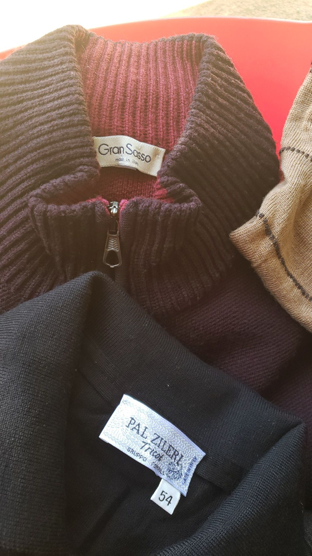 Great sweaters size XL man. All yours for $80.00 or $20.00 each