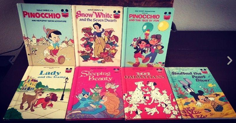 Walt Disney 7 Books Pinocchio Snow White Dalmations Lady & the Tramp Just $22!
