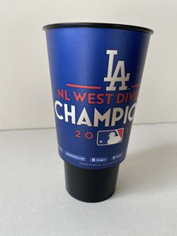 Set of 4 LA Dodgers NL Champions Cups from the 2017 season Thumbnail