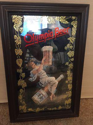 Antique vintage beer bar add mirror sign for Sale in Santa Monica, CA