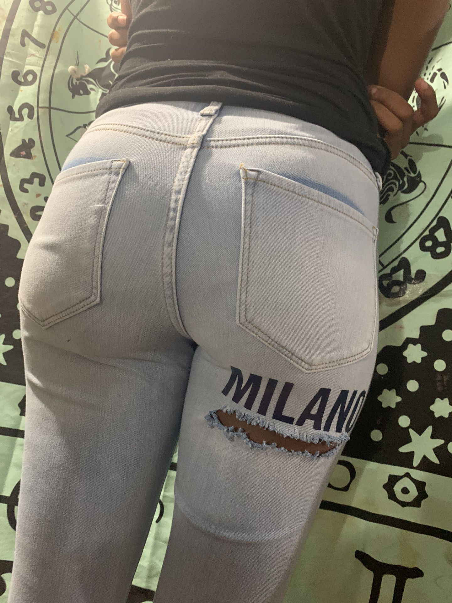 Patched jeans by me
