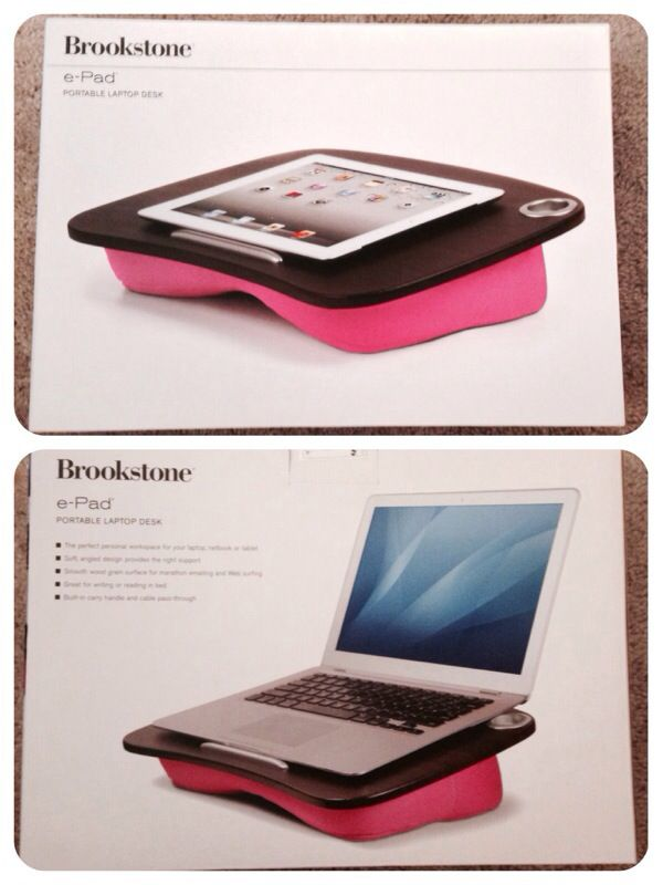 Brookstone E Pad Portable Lap Desk Pink For Notebook Ipad Tablet Pc For Sale In Las Vegas Nv Offerup
