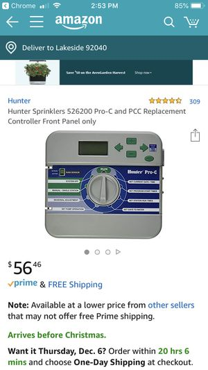 Irrigation and sprinkler control panel-HUNTER brand for Sale in Lakeside, CA