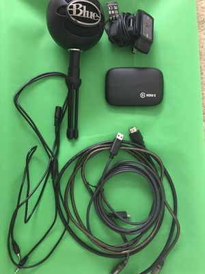 Capture card, mic and webcam for Sale in Atlantic Beach, FL