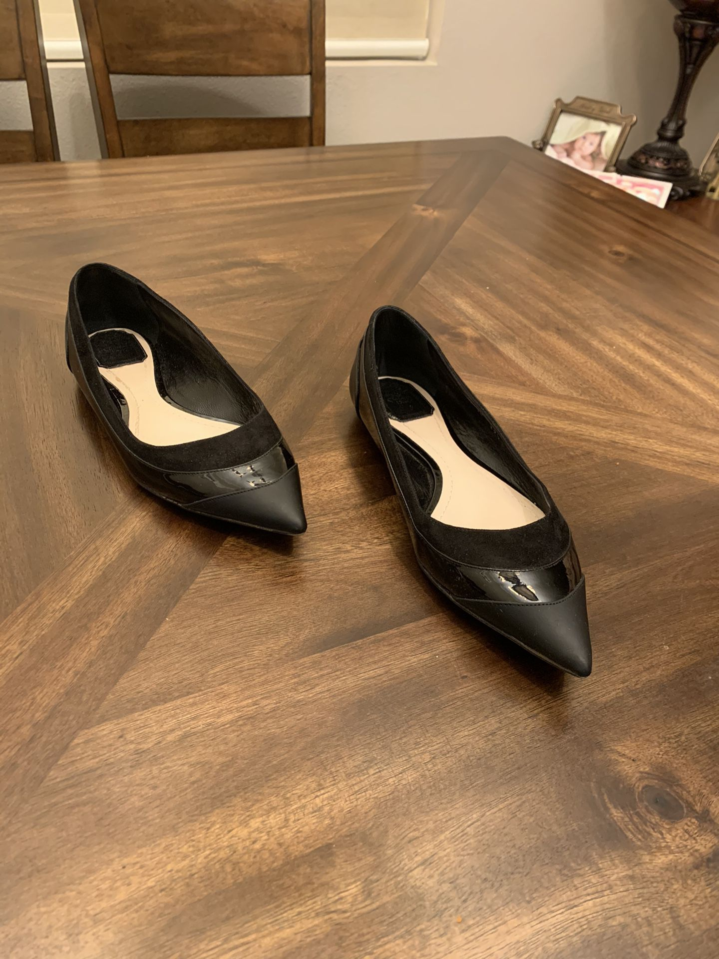 Christian Dior women's flats loafers black leather