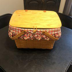 Large Longaberger Picnic Basket Thumbnail
