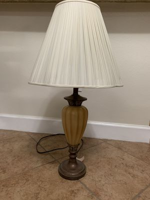 One Table Lamp Like New Includes An Extra Identical Shade All