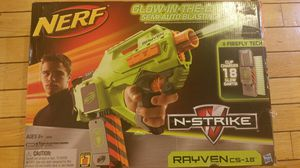 Nerf N-Strike Rayven CS-18 Glow in the Dark Semiautomatic for Sale in Bristow, VA