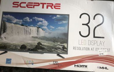 32 inch sceptre tv with remote and Logitech z623 speakers with samsung blue ray player Thumbnail