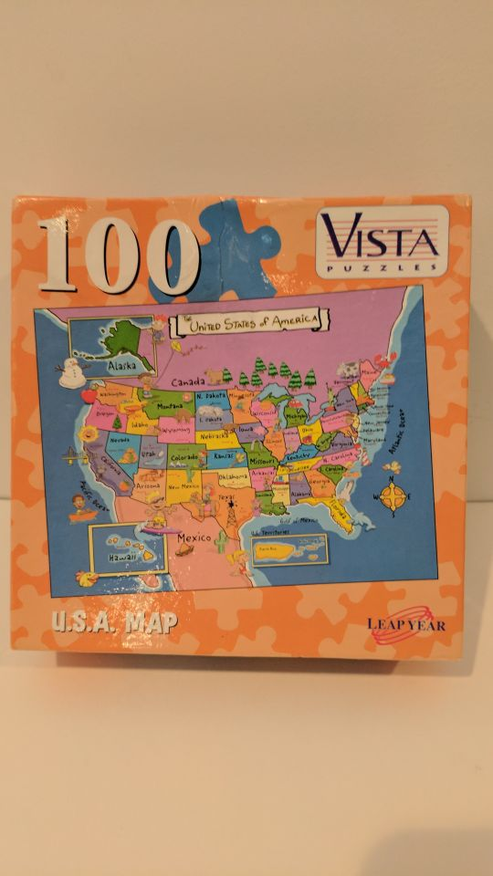 100 Pc Usa Map Puzzle For Sale In Gaithersburg Md Offerup - Map-of-us-puzzle