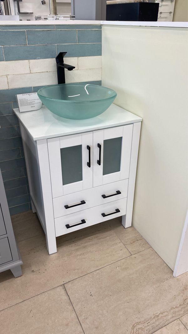 """24"""" bathroom vanity sink and cabinet in white for Sale in ..."""