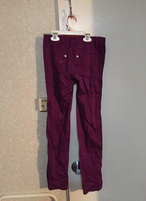 Girls size 8 Route 66 purple pants 👖