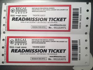 Movie tickets (any movie, any date) for Sale in Gaithersburg, MD