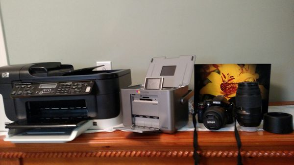 Nikon D5100 With 2 Lenses Hp Officejet Printer 2 Epson Picturemate