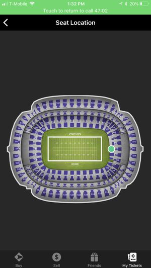 2 Ravens and Broncos EndZone Tickets for Sale in Baltimore, MD