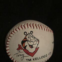1991 Kellogs Tony The Tiger Official MLB Rawlings Baseball Thumbnail