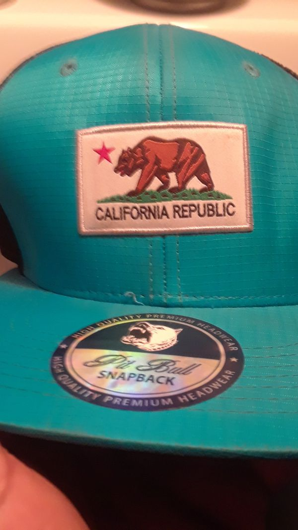 Pitbull snapback hat with California republic logo on the front for Sale in  Vallejo df8517c10b8b