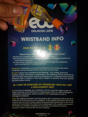 2 day pass for EDC Orlando for Sale in Aurora, CO