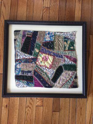 Vintage crazy quilt wall decor for Sale in Alexandria, VA